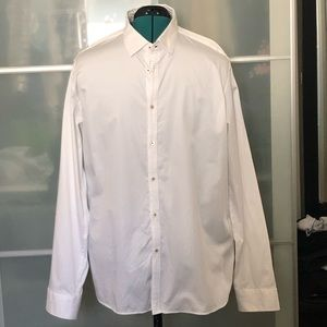 Men's Ted Baker white dress shirt-fits XL (size 7)